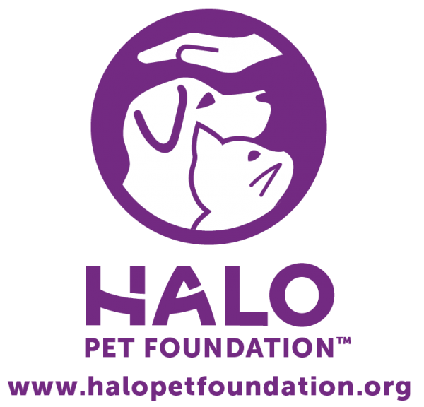Halo Pet Foundation purple and white logo